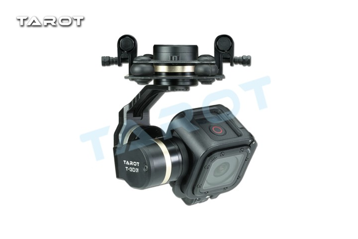 Tarot GOPRO T-3D IV Metal 3 Axis Gimbal TL3T02 HERO4 SESSION FreeTrack Shipping upgrade debugging edition jiyi fpv g3 3d 3 axis gimbal for gopro hero3 3 hero4 aerial photography