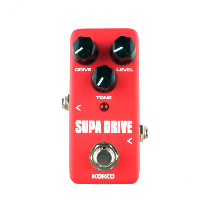 KOKKO FOD5 Supa Drive Classical Guitar Effects Pedal Guitarra Effects for Electric Bass Guitar Parts Accessories kokko fdd2 timer delay electric guitar pedal de alta calidad portatil guitarra effects for musical instruments parts accessories