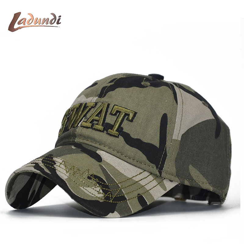 New Camo SWAT Army   Cap   Bone Militar   Baseball     Cap   Men Camouflage Jungle Tactical   Cap   Mens   Caps   And Hats Bone Snapback Dad Hats