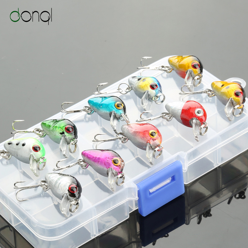 DONQL Fishing Lure Kit Minnow Floating Lure Isca Artifcial Crankbait Bait Pesca Jig Fishing Hook Set With Fishing Tackle Box