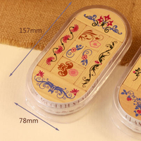 Stamps Wood Chinese 8 Piece Set DIY Work Tools Girl Boy Student Classmate Fun Young Best