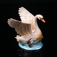 Swan Hinged Trinket Box Swan Handmade Jeweled Metal Trinket Box 8.5*8.5 CM
