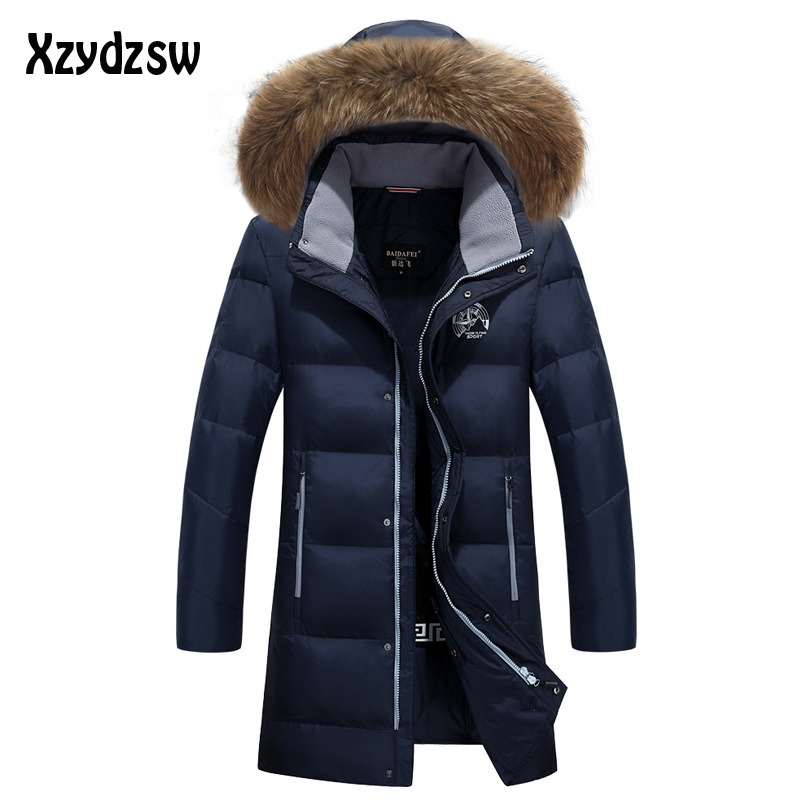 Canada Goode 2016 Winter   Down     Coat   Men New Brand Clothing Thick Fur Collar Hooded Parkas Mens Winter   Coat   Mens Duck   Down