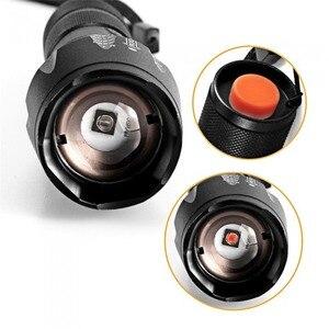 Image 2 - 적외선 IR 850 손전등 850nm IR LED 손전등 토치 카메라 채우기 빛 18650 손전등 전술 원격 제어 꼬리 스위치