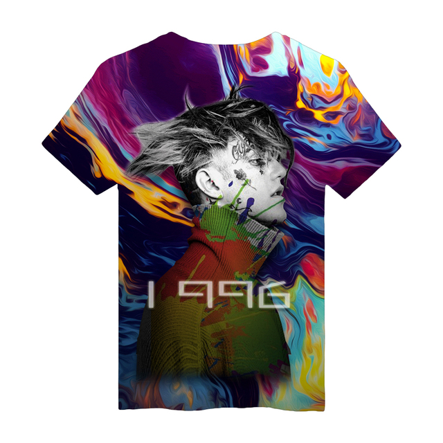 2018 Lil Peep T Shirts Men Summer 3D T-Shirts Homme Casual Short Sleeve O-neck Shirts Lil Peep Rap Punk Rock Tees
