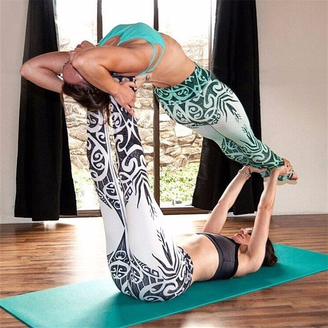 Fitness Printed Yoga Pants Tights Running Leggings Sports Gym Women Tights Yoga Leggings Quick Dry Breathable Trousers 1