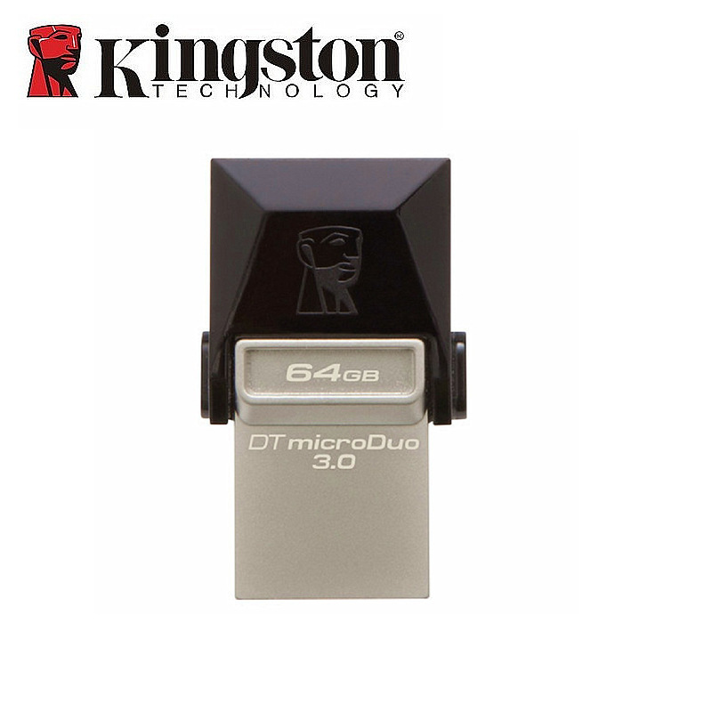 Kingston USB Flash Drive USB 3.0 64GB Memory Flash Stick OTG PenDrive 2in1 Micro USB Tablet Pendrive For Android Mobile Phone недорго, оригинальная цена
