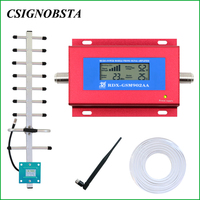 2018 High Quality 2G Cellular GSM900 Repeater Mini LCD Cell Phone UMTS 900MHz Signal Booster Amplifier Red Color GSM902AA Sale