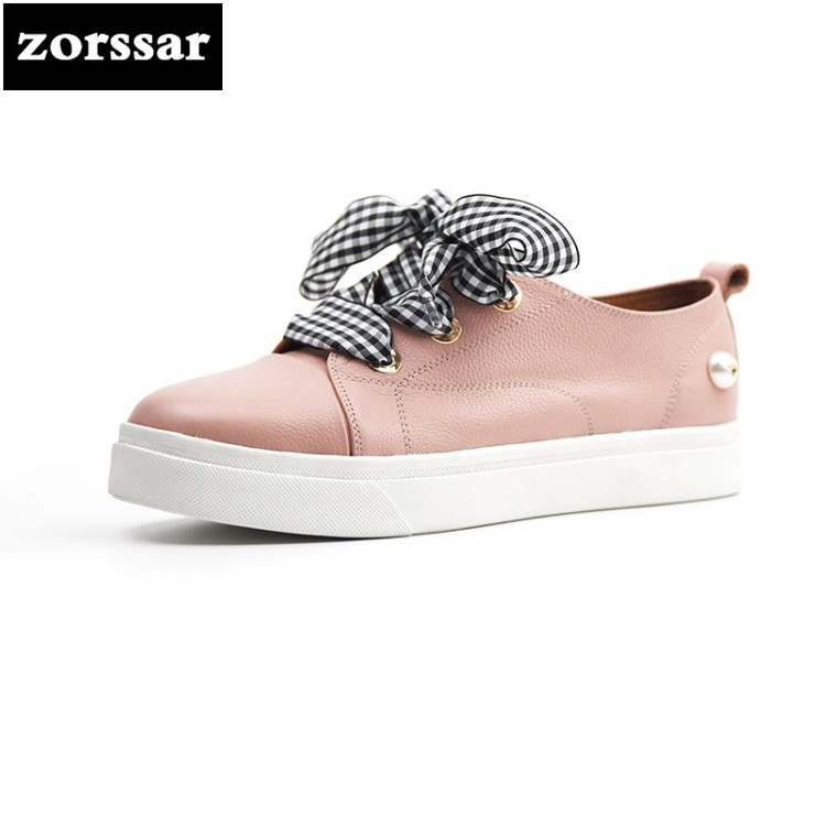 {Zorssar} 2018 New Fashion Women Casual Shoes Summer Comfortable Flats Genuine Leather Female sneakers shoes Driving shoes women s shoes 2017 summer new fashion footwear women s air network flat shoes breathable comfortable casual shoes jdt103