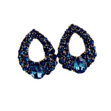 Elegant earrings for women Vintage Style Fashion Rhinestone Dangle Stud Earrings pendientes mujer(China)
