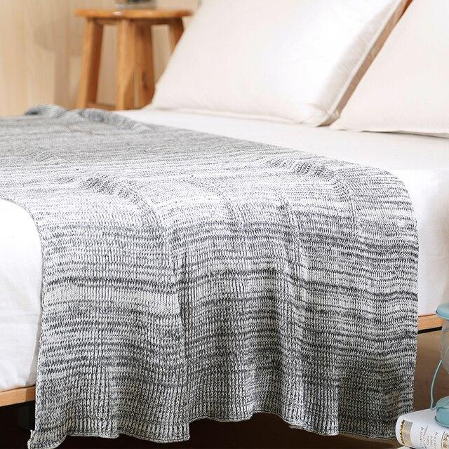120*180 cm punto mantas en la cama algodón Plaids manta en el sofá ...