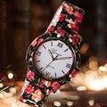Спорт Мода Кварцевые Часы Женщины Платье Часы Женский Цветок Женева Смотреть Пластиковые Часы Оптовая Relogio Feminino Relojes Mujer