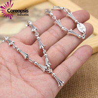 COREOPSIS S925 Sterling Silver Jewelry Thai Silver Style Universal Korean Version Of The Bone Chain Splicing