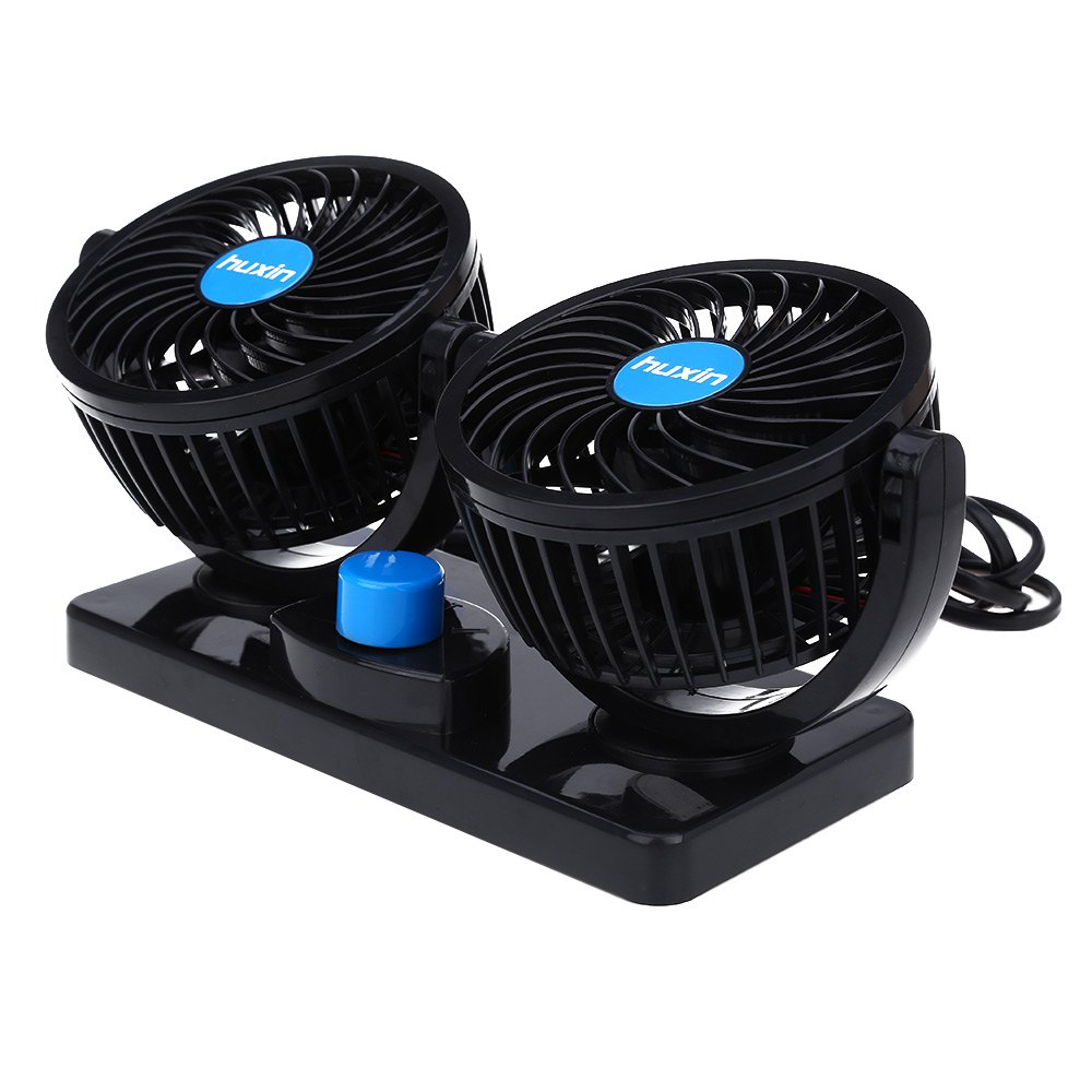 Car Mini Low Noise Summer Cooling Fan Air Conditioner 12v 360 Degree