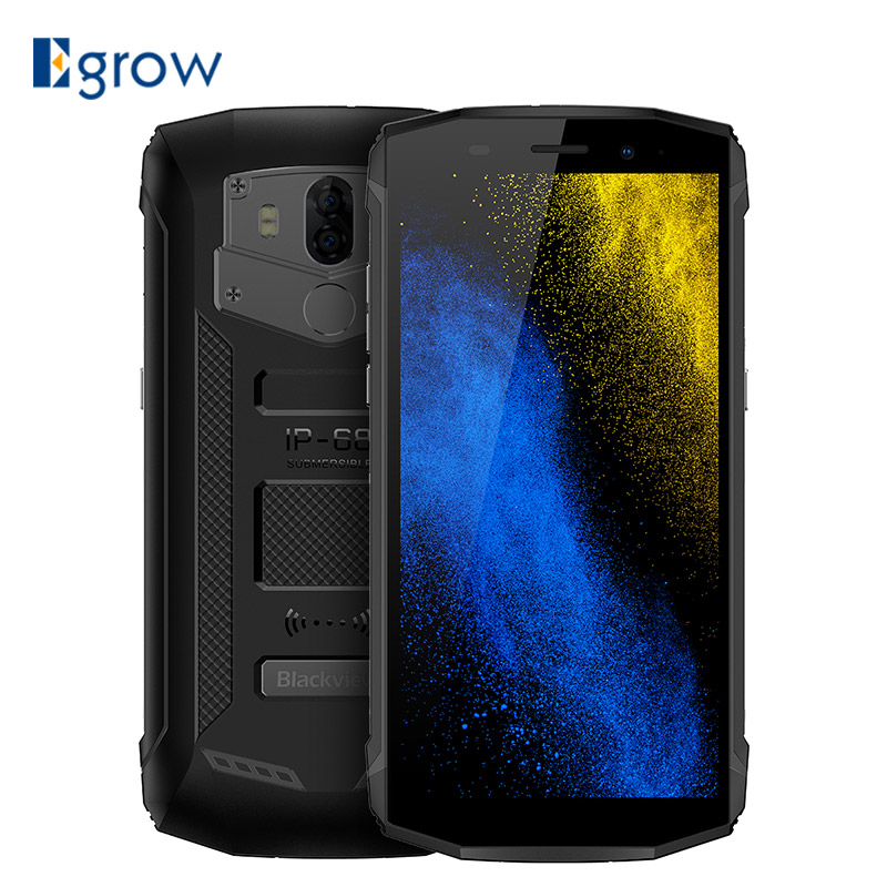 Blackview Bv5800 IP68 Waterproof 5580 mAh big battery 4G 18:9 Smartphone MT6739 2GB RAM 16GB ROM 13MP NFC Touch ID Mobile phone