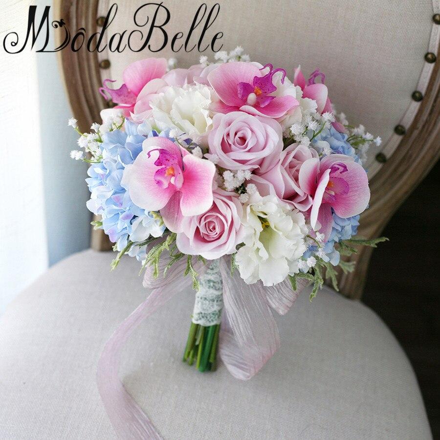 buy modabelle artificial pink roses wedding bouquet 2017 lace handle outside. Black Bedroom Furniture Sets. Home Design Ideas