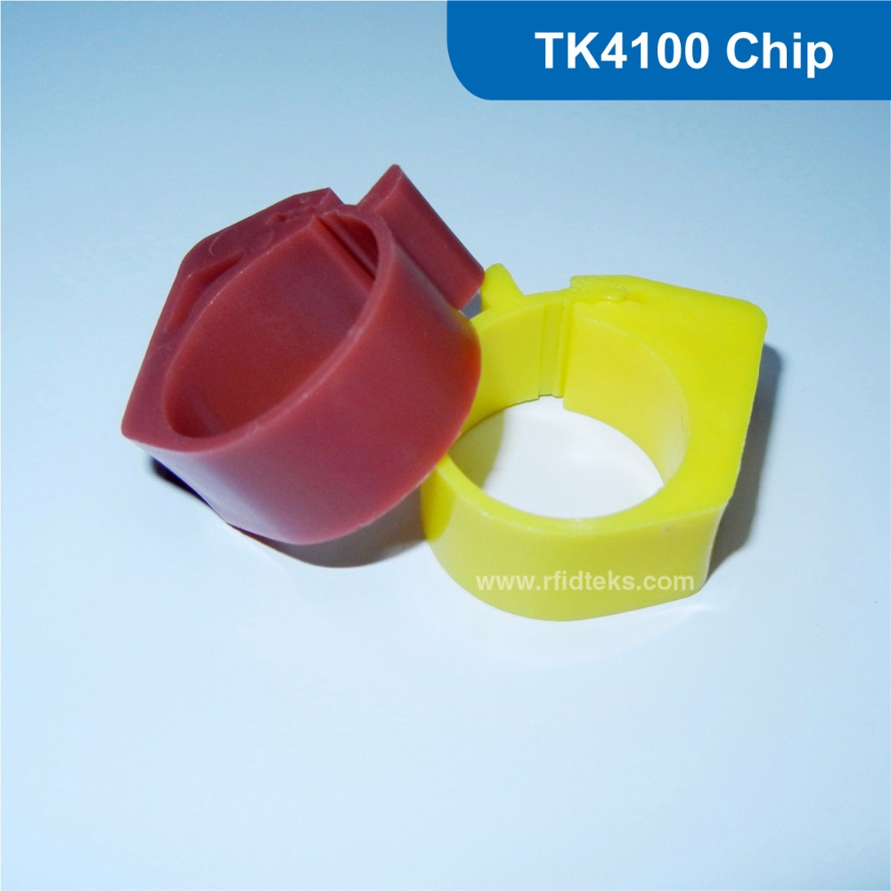 passive rfid Chicken ring tag rfid chicken tag 125KHz RFID Animal Tag RFID pigeon foot tag with Hitag TK4100 Chip Free Shipping waterproof contactless proximity tk4100 chip 125khz abs passive rfid waste bin worm tag for waste management