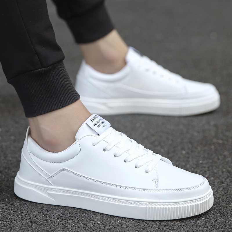 2018 new men casual shoes tide fashion comfortable breathable lace-up wild flats men's shoes high quality