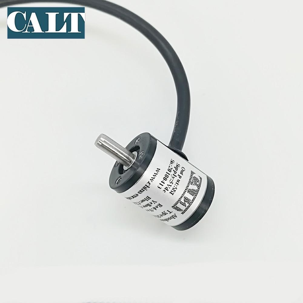 CALT 18mm magnetic absolute encoder 5v 10 bit 12 bit 14 bit resolution  measuring angle Hall Encoder SSI output HAE18