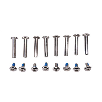 8Pcs Roller Skates Parts Axle Male And Female Screws For Child Kids Or Adult Inline Skates free shipping roller skates seba frame 231mm and 243mm