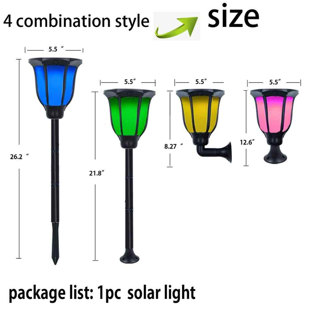 Solar Lampu Tahan Air LED Lampu Tenaga Surya untuk Taman Patio Yard Jalan Jalur Pemandangan Rumput Pintu Lampu Teras 6 Warna