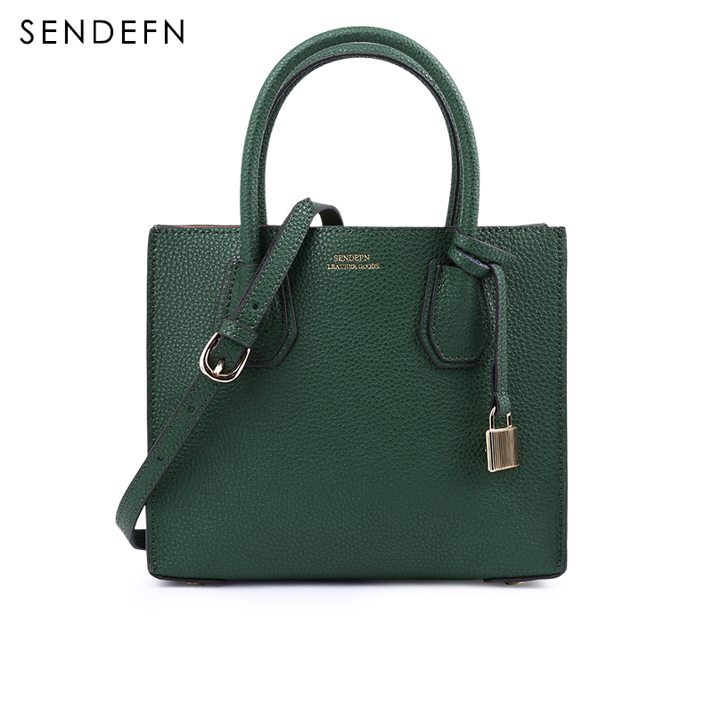 SENDEFN Small Women Bag Brand Crossbody Bag Fashion Bag Female Split Leather Women Shoulder Bag 2017 New Style Handbag With Lock 2017 120cm diy metal purse chain strap handle bag accessories shoulder crossbody bag handbag replacement fashion long chains new