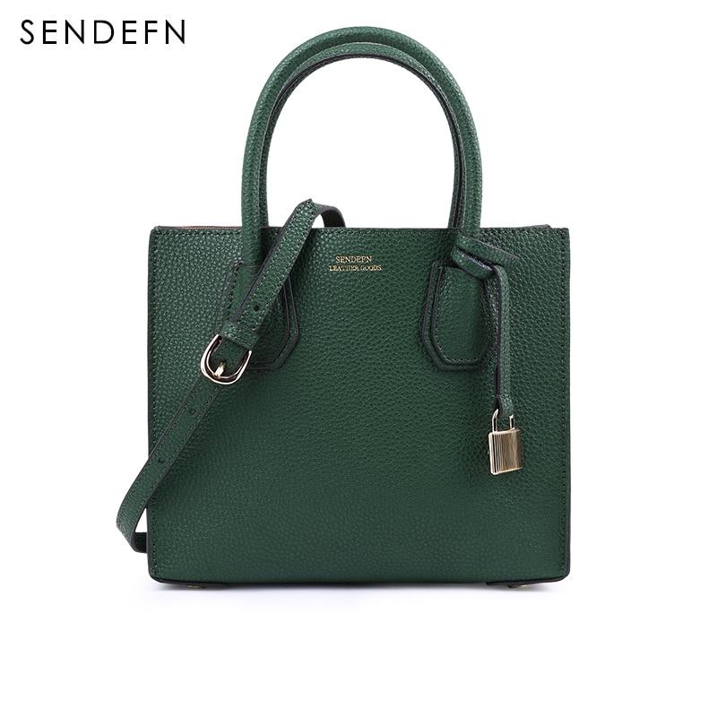 SENDEFN Small Women Bag Brand Crossbody Bag Fashion Bag Female Split Leather