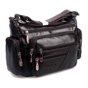 Image 2 - Women Vintage Shoulder Bag First Layer Cowhide Messenger Bags Shopping Casual Brand Famous Genuine Leather Single CrossBody Bags