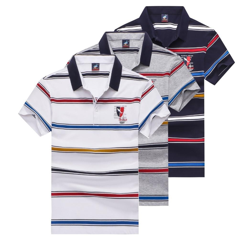 Tace & Shark brand   polo   shirt men high quality striped business   polo   men 2019 Summer tee shirt homme   polos   shirts para hombre