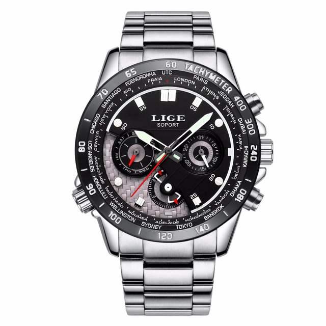 9ec12e2ae38 placeholder LIGE Moda Casual Do Esporte Dos Homens Relógios Marca De Luxo  Negócio Masculino Homens Relógio de