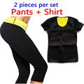 T-shirt + Pants / 2015 Hot New Shaper Women Neoprene T Shirts Control Panties Sweating Shaper Tops Stretchy Slimming Suit