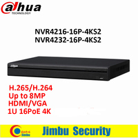 Original Dahua 16 32 Channel 1U 16PoE 4K H 265 Lite Network Video Recorder NVR4216 16P