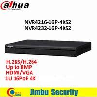 Original Dahua 16 32 Channel 1U 16PoE 4K H 265 Lite Network Video Recorder NVR4216 16P