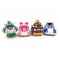 New Robot Car Anime Action Figures Toys Robocar Poli Metal Model Set Toys For Children Gifts