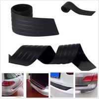 Car Styling Car Trunk Guard Plate Sticker Rear Bumper Rubber Protection Tailgate Trim Bar Behind The