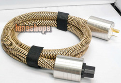 LN003884 1.5m Denmark GUZI -196 Degree frozen Hifi power Cable 3x crystals of silver and 8N
