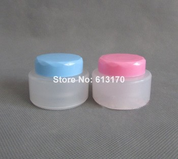 Ointment Tins Cream Jar Plastic 50pcs 40g 40ml Pink, Blue Frosted Empty With Cosmetic Container Day Refillable Free Shipping