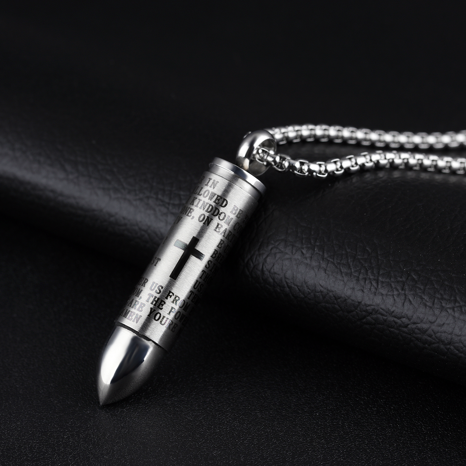 Fashion Jewelry Classic Accessories Stainless Steel Bullet Shape ...
