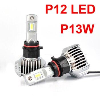 1 Set P13W P12 Car LED Headlight Super Bright 0.72MM PCB Ultra Thin W/ External Driver Front Lamps Bulbs 6K White 90W 13000LM