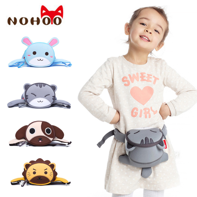 NOHOO Kids Waist Bags 3D Cute Cartoon Animals Toddle Fanny Pack Children Waist Packs Waistband Bags For The Belt