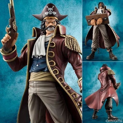 One Piece Gold Roger Gol D Roger Pirate King MH POP <font><b>DX</b></font> Anime PVC Figure Ace Father King of the Pirates collection <font><b>toy</b></font> gift model image