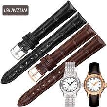 ISUNZUN Women's Watch Strap For Tissot Carson T085.207/210 Watchbands Styles 14mm Genuine Leather Watch Band Watch Straps