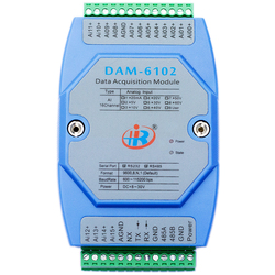 DAM6102 Analog Input Data Acquisition Module Modbus Voltage Current Converter RS485RS232