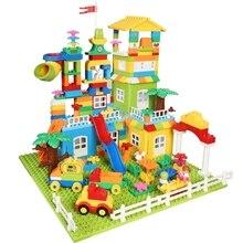 لتقوم بها بنفسك كتل كبيرة ملونة قلعة أرقام سيارة شاحنة البناء التعليمية اللبنات للأطفال
