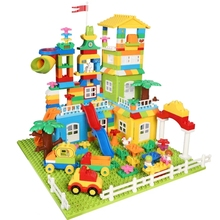 DIY Colorful Big Blocks Castle Figures Car Truck Constructions Educational Building Blocks For Kids