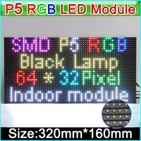 p5 full color led module, rgb hd pixel 1/16 scan 320*160mm 64*32 pixel smd 3 in 1, p5 led tile rgb display led board