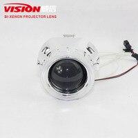 IPHCAR CCFL Angel Eyes Halo HID Bixenon Lens Projector Headlight Retrofit H1 H4 H7 Head Lamps