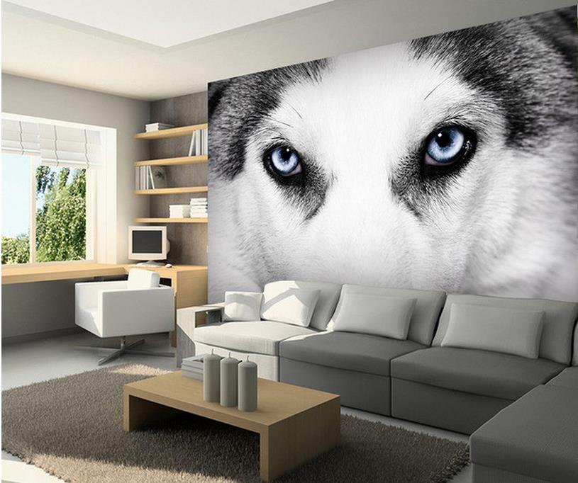 3d wallpaper custom photo mural living room dog eyes black and white painting TV sofa background non-woven wallpaper for wall 3d custom baby wallpaper snow white and the seven dwarfs bedroom for the children s room mural backdrop stereoscopic 3d