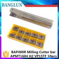 TAP BAP400R C25XC25X160L 2T C32X32X160L 3T Right Angle 90 Degree Milling Cutter Arbor For 10Psc APMT1604