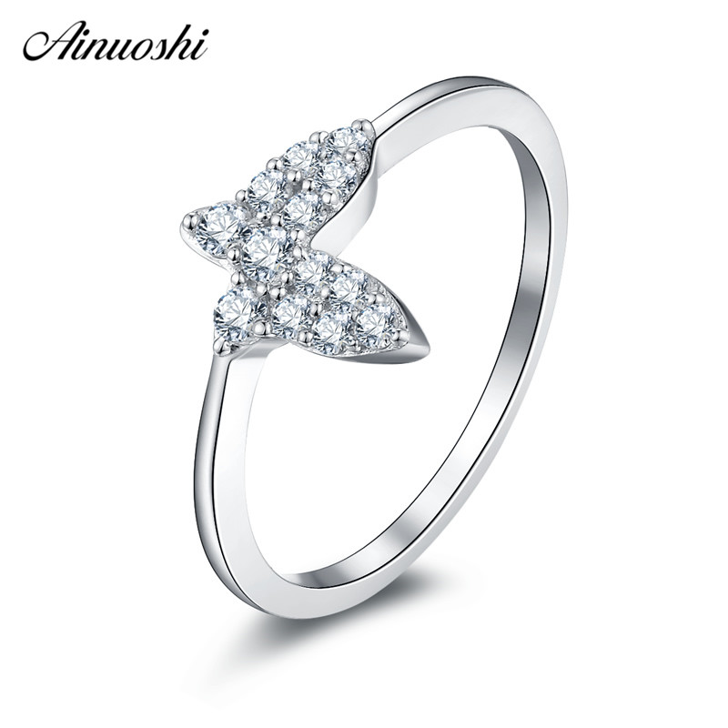 Ainuoshi 925 Sterling Silver Wedding Rings Engagement Anniversary
